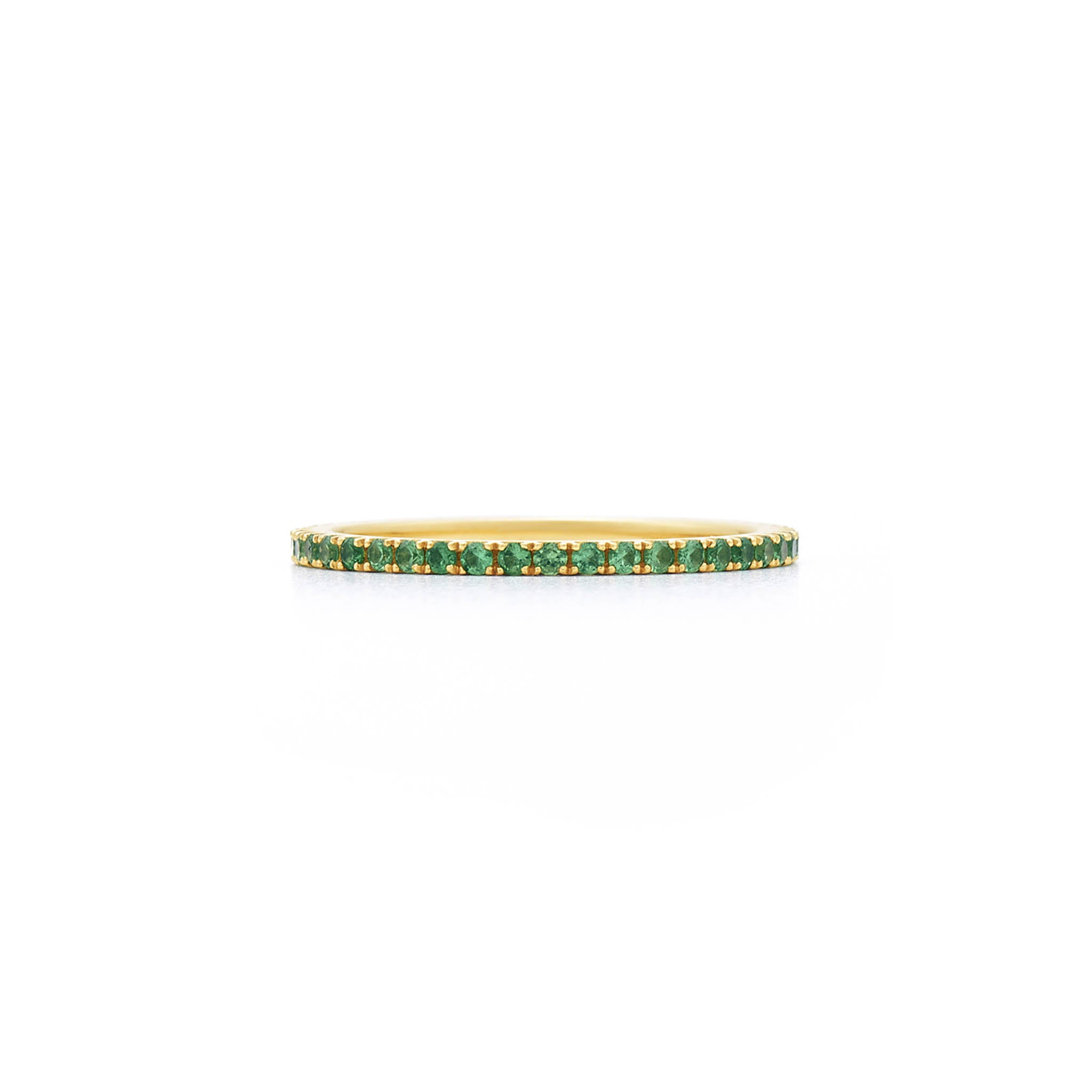 18k Yellow Gold and Tsavorite Eternity Band