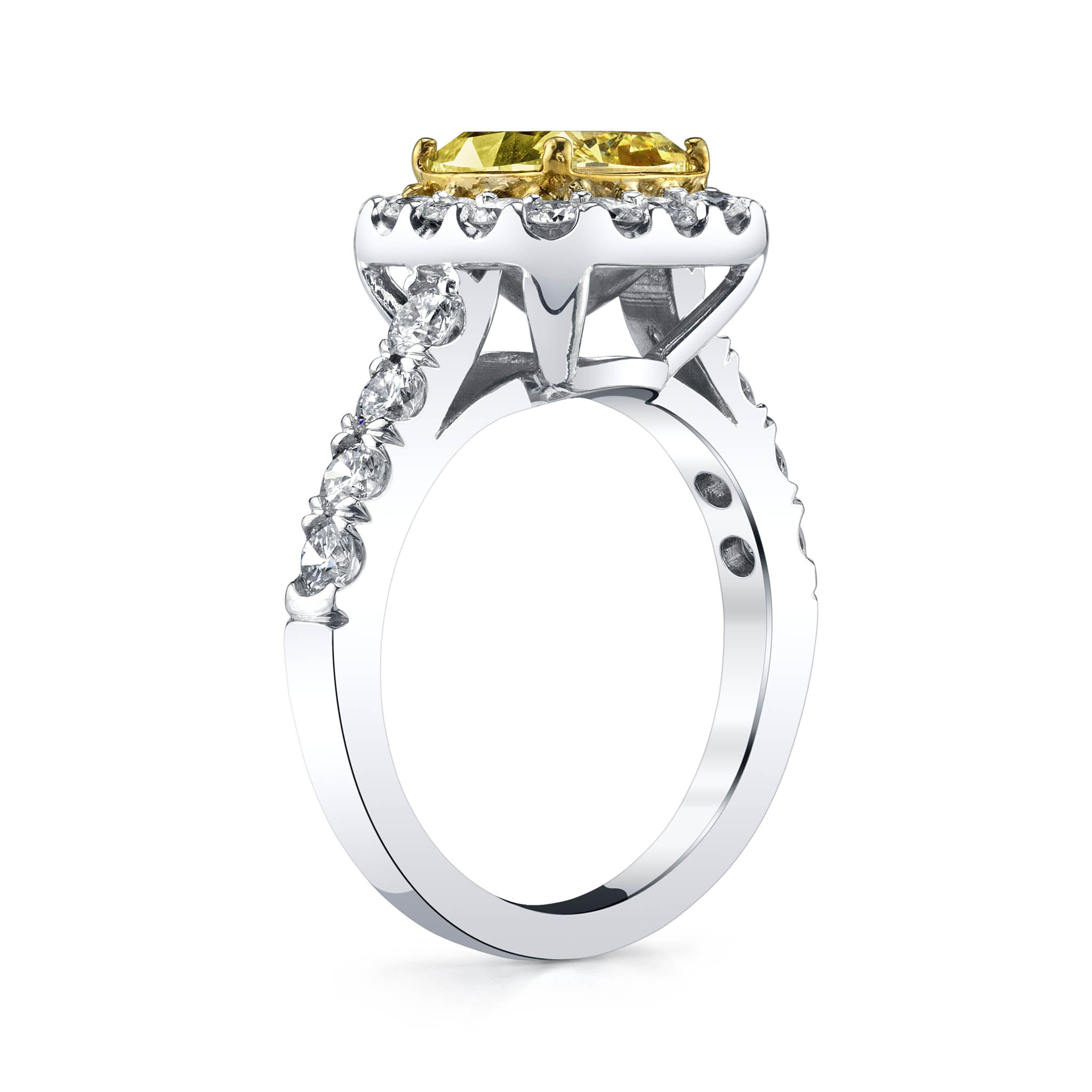 2-Carat Fancy Intense Yellow Diamond Ring