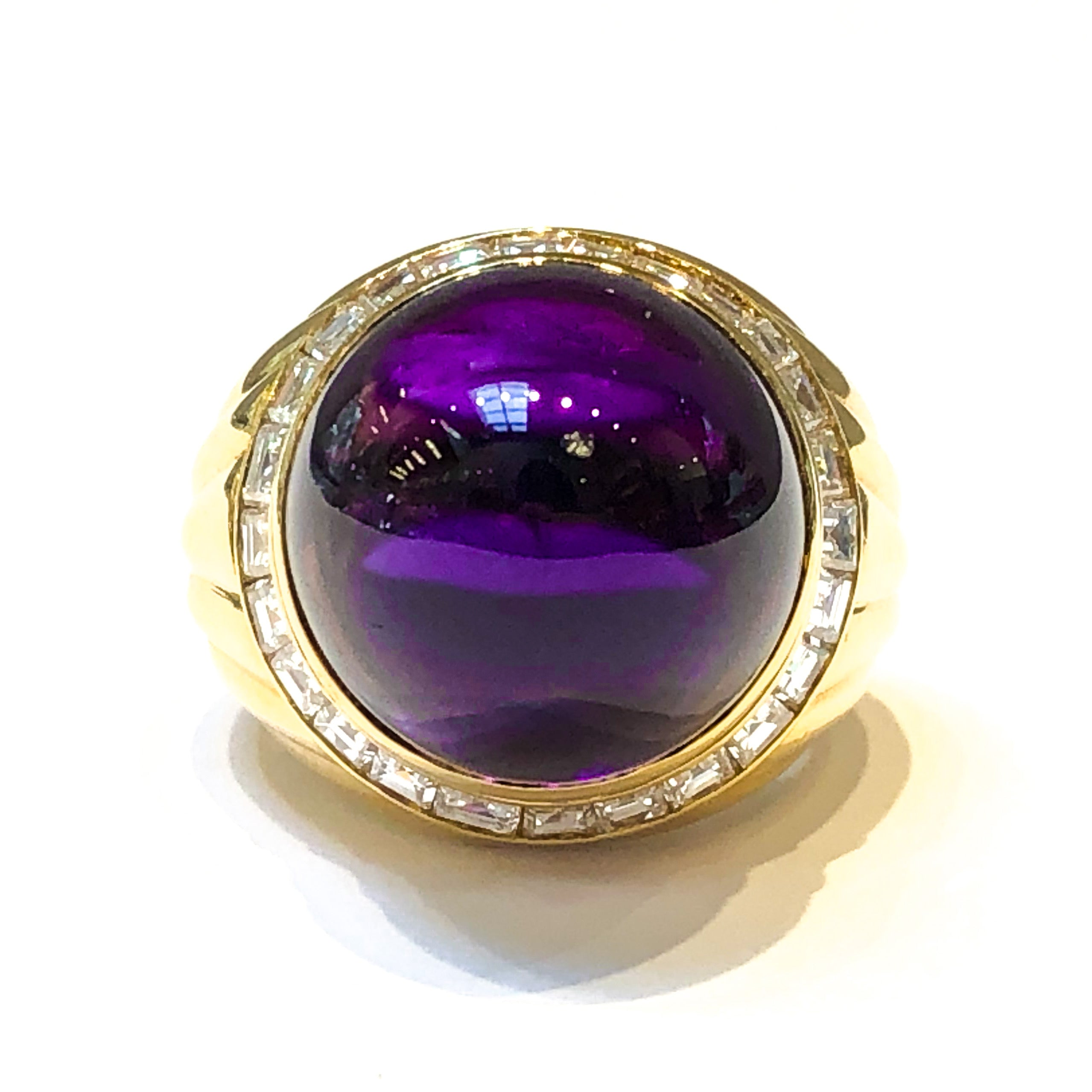 18kt Amethyst and Diamond Ring