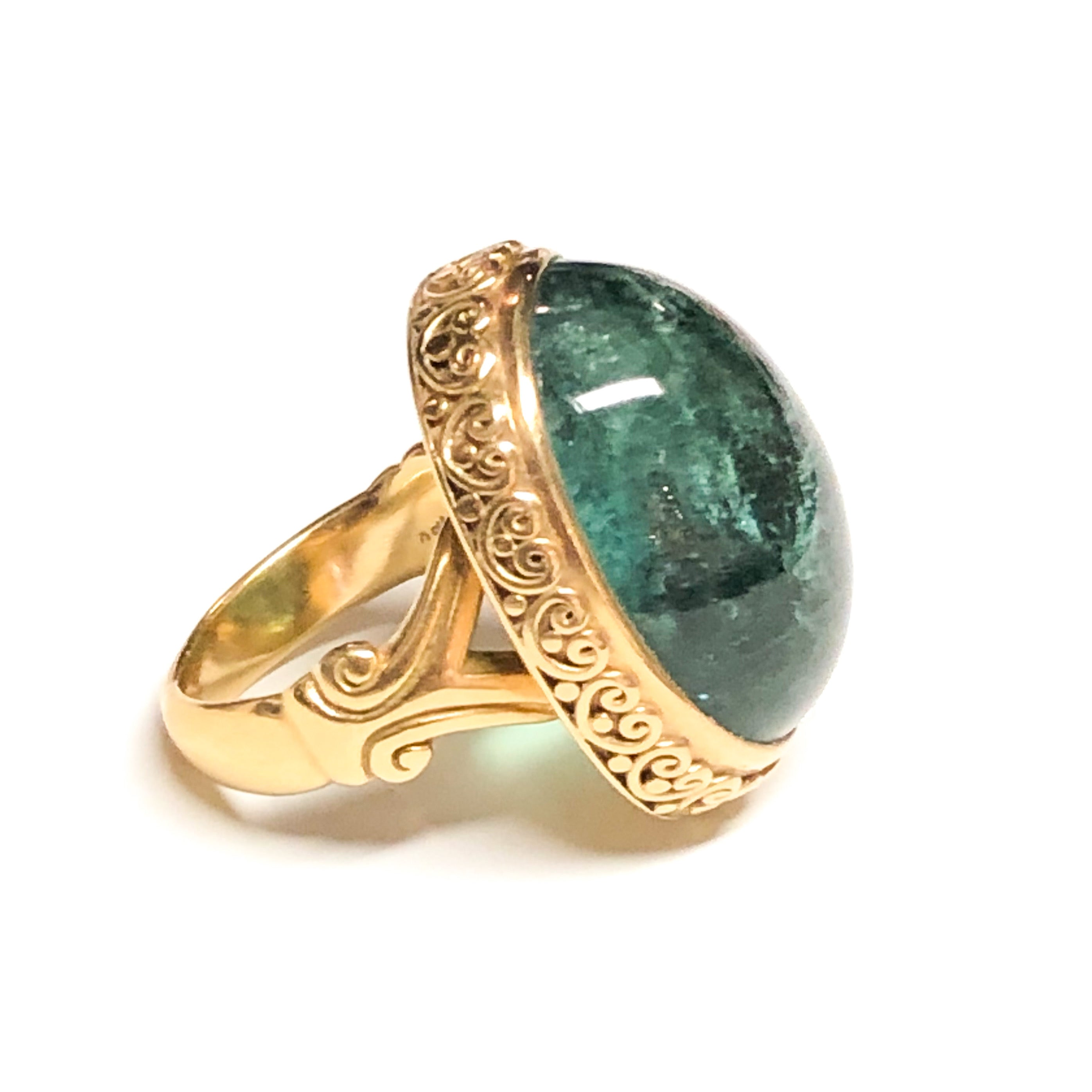 18kt Green Tourmaline Ring