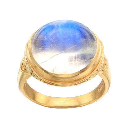 22kt Yellow Gold and Blue Moonstone Ring