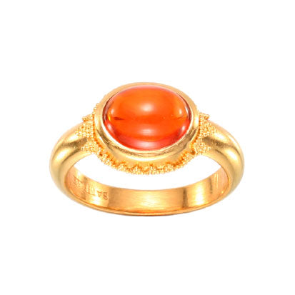 22kt Yellow Gold and Fire Opal Ring