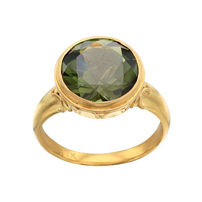 22kt Yellow Gold and Green Tourmaline Ring