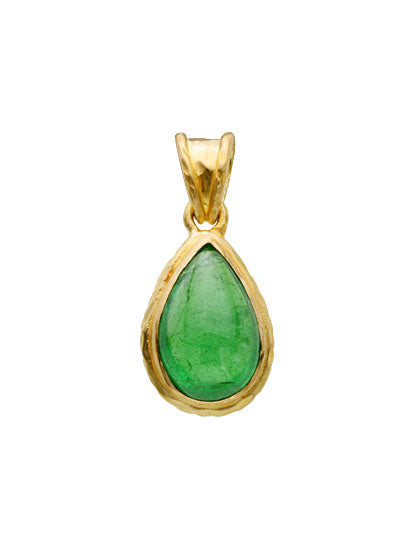 18kt Yellow Gold and Tsavorite Pendant