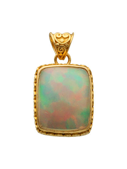 22kt Yellow Gold and Opal Pendant