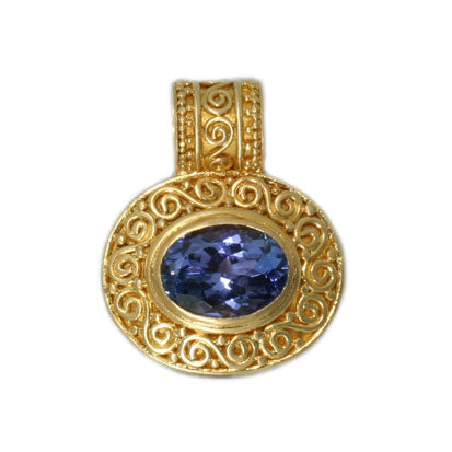 22kt Yellow Gold and Tanzanite Pendant