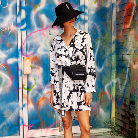 CLOUD CONTROL WHITE SHIRT DRESS