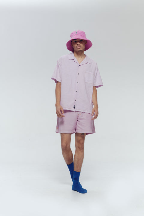 LAVENDER HAWAIIAN SHIRT