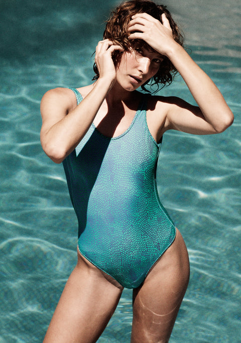 LOUNGE LIZARD ONE-PIECE SWIMSUIT