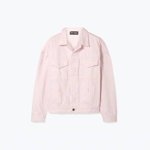 PINK DOUBLE DENIM JACKET