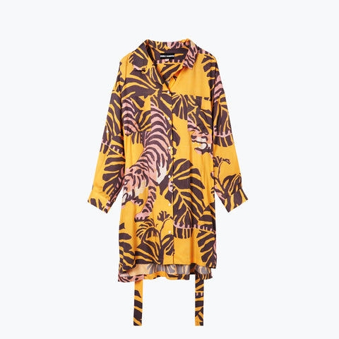 NIGHTCRAWLER TURMERIC SHIRT DRESS