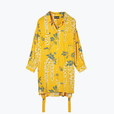 OVER THE FALLS TURMERIC SHIRT DRESS
