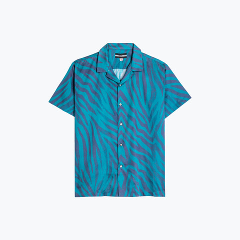 POOL SHARK BLUE HAWAIIAN SHIRT
