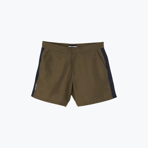 KHAKI / NAVY POOL SHARK SWIM SHORT