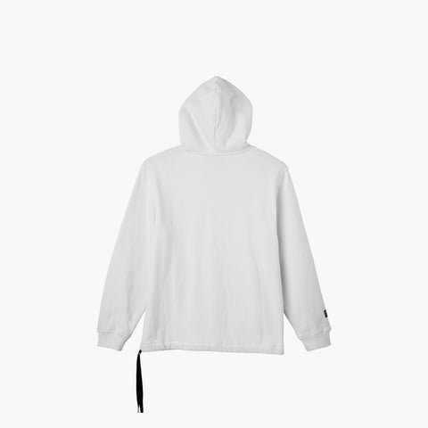 WHITE LOGO PATCH COUCH SURF HOODIE