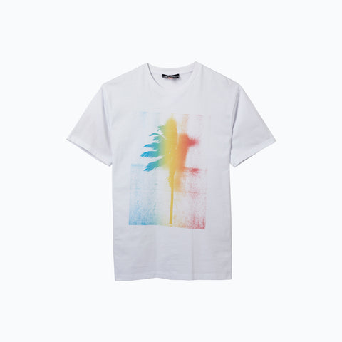 RAINBOUU PALM WHITE ICE TEE