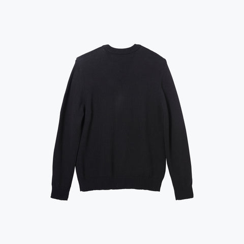 BLACK FLOWERS CREW KNIT