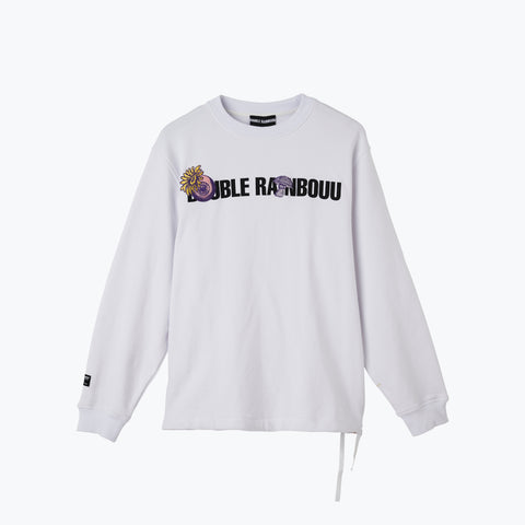 WHITE LOGO CREW NECK SWEAT