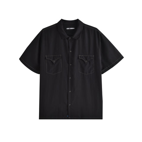 BLACK CONTRAST WEST COAST SHIRT