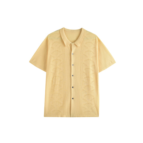 RETRO RAINBOUU BUTTER KNIT SHIRT