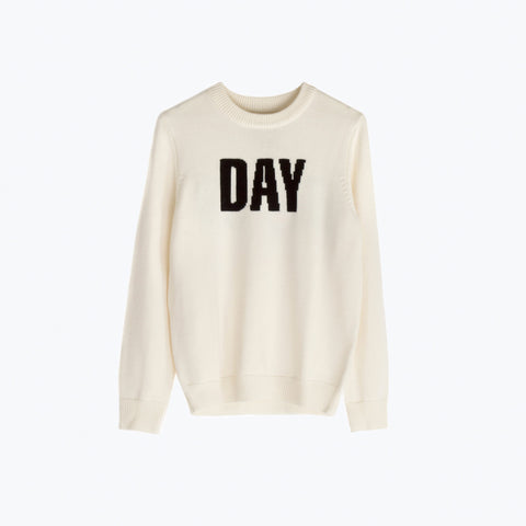 DAY / BREAK MERINO UUOOLL CREW KNIT