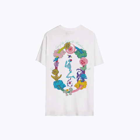EYE OF THE RAINBOUU TEE WHITE MULTI