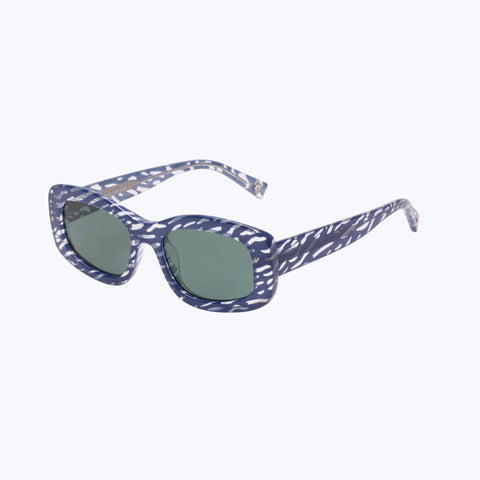 FIVE STAR BLUE RIPPLE SUNGLASSES