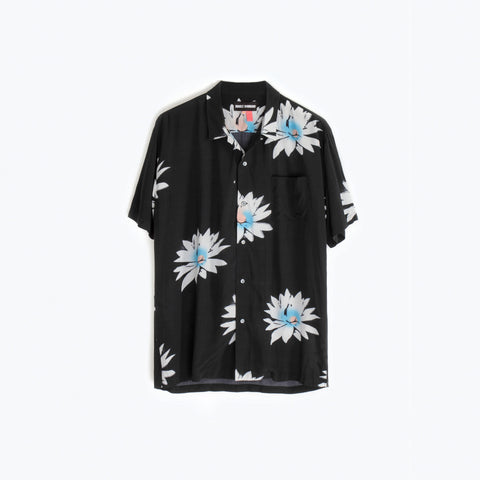 GLOSSY POSSY BLACK HAWAIIAN SHIRT
