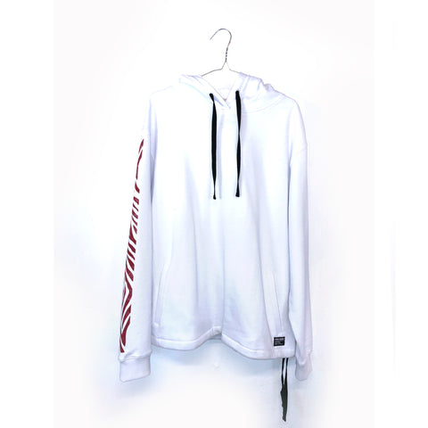 WHITE POOL SHARK RED HOODIE
