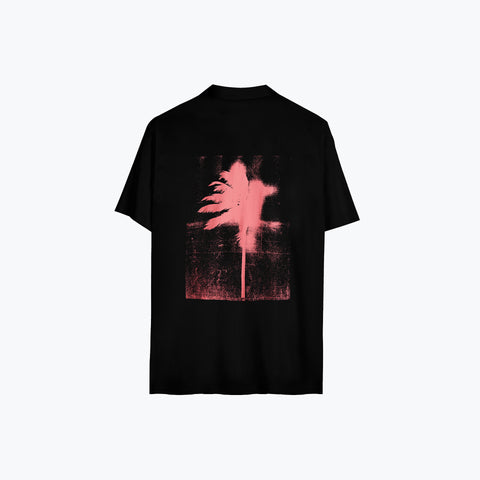 LOGO PALM BLACK HAWAIIAN SHIRT