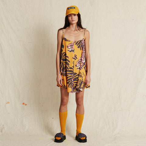 NIGHTCRAWLER TURMERIC SWING DRESS