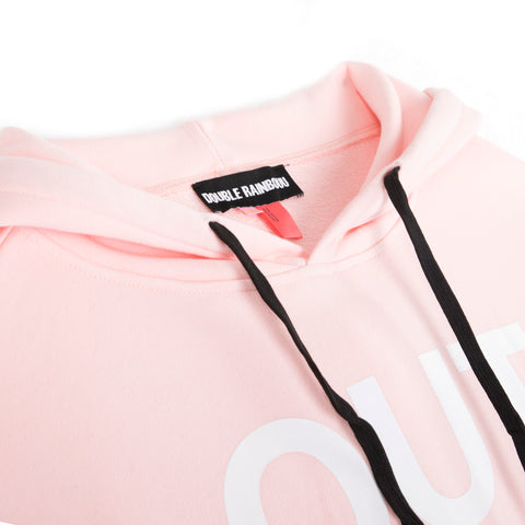 OUT NOW PINK COUCH SURF HOODIE