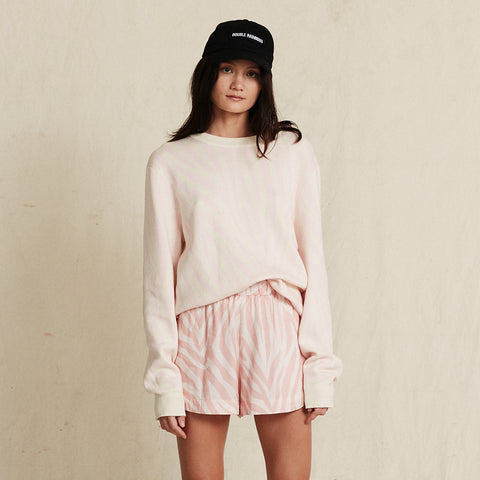 POOL SHARK PINK CREW KNIT