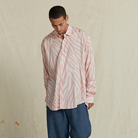 POOL SHARK PINK SUNDOWN SHIRT