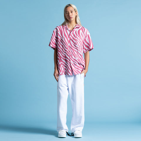POOL SHARK RED LINEN SHIRT