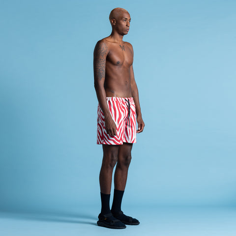 POOL SHARK RED NIGHT SWIM SHORT