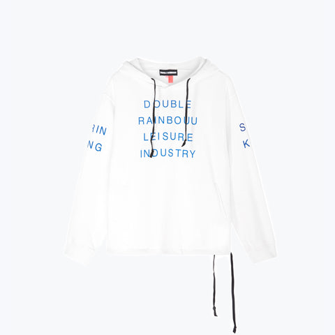 SMOKING DRINKING WHITE COUCH SURF HOODIE