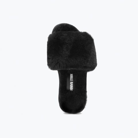 BLACK SHEEPSKIN SLIDE