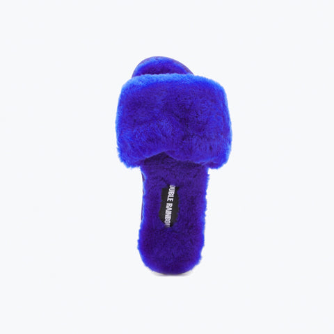 BLUE SHEEPSKIN SLIDE