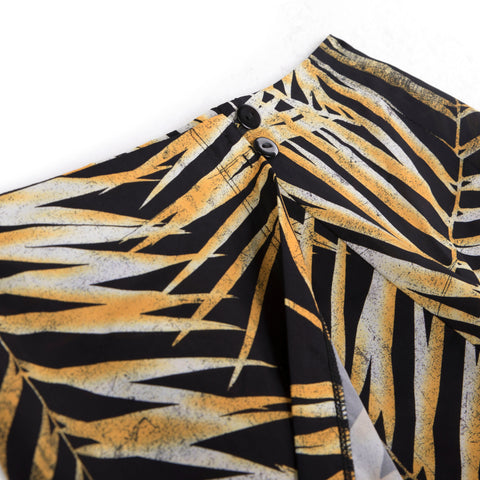 TIGER PALM WRAP SKIRT
