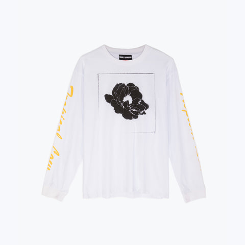 TROPICAL LOW WHITE LS ICE TEE
