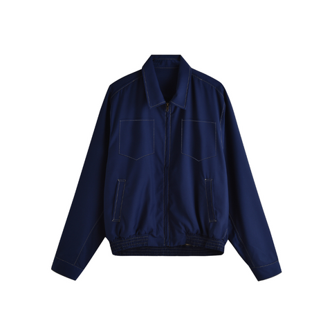 NAVY CONTRAST INDUSTRY JACKET