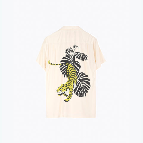 WHITE TIGER HAWAIIAN SHIRT