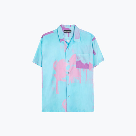 WINDY NICE AQUA HAWAIIAN SHIRT