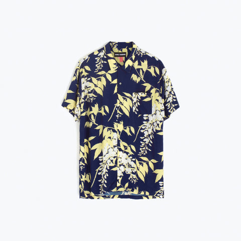 WISTERIA BLUE HAWAIIAN SHIRT