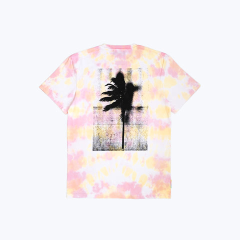 PALM LORD TEE TIE DYE PINK / YELLOW