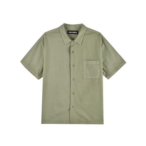 KHAKI GREEN HAWAIIAN SHIRT