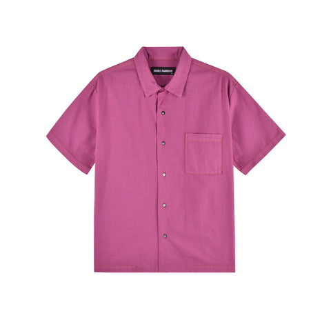 MAGENTA HAWAIIAN SHIRT