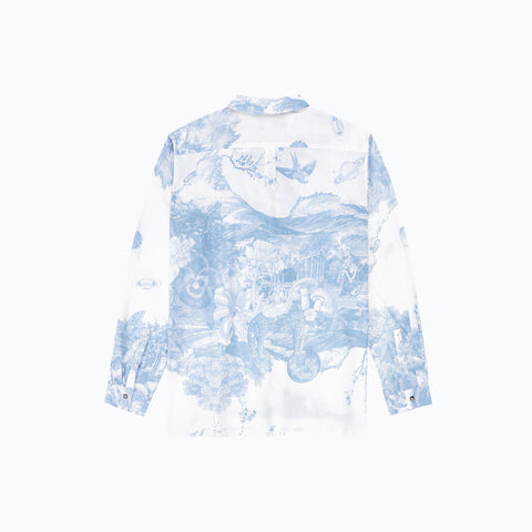 ANIMAL KINGDOM BLUE LONG SLEEVE SHIRT