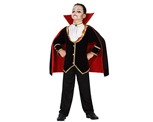 atosa 22754 Vampire Costume, size 116, Black/Red
